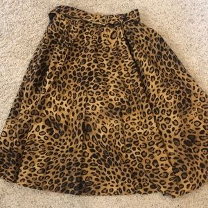 Jones New York Brown Leopard Skirt